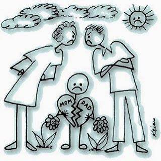Elvált szülők gyerekei és a szülők veszekedései